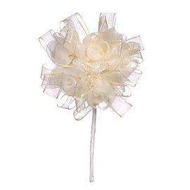 BLUMEN (MINI) UND ACCESOIRES Collier floral, ivoire, 3,5 cm - 10 cm.