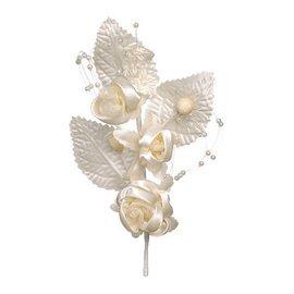 BLUMEN (MINI) UND ACCESOIRES Blumenpick, elfenbein, 14cm, 1 Stück.