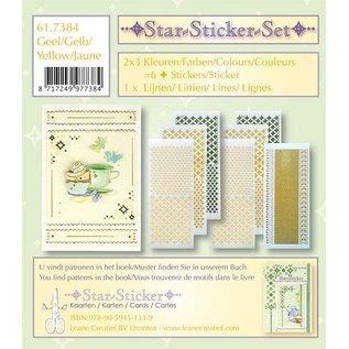 STICKER / AUTOCOLLANT Étoiles autocollants ensemble autocollants 2x3 étoiles + 1 Lijn autocollants