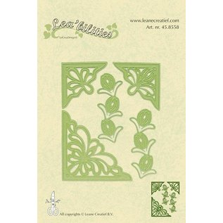 Leane Creatief - Lea'bilities und By Lene Flower corner cutting and embossing template.