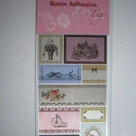 Satén Etiquetas adhesivas, Vintage 4