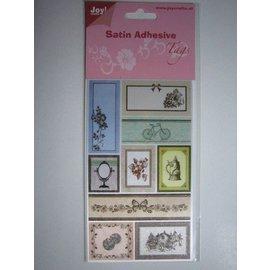 Satén Etiquetas adhesivas, Vintage 1
