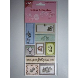 Satijn Adhesive Tags, Vintage 1