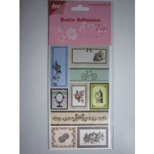 Satin Adhesive Tags, Vintage 1
