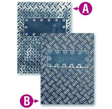 embossing Präge Folder Prägeshablone plastique M-Bossabilities avec 2 motifs