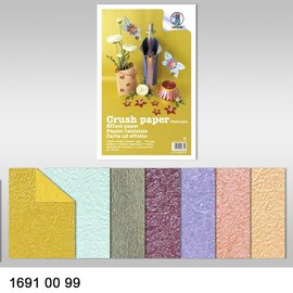 Karten und Scrapbooking Papier, Papier blöcke Effektpapier, Crush paper, 21 x 33 cm, 120 gr/qm ,