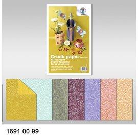 Karten und Scrapbooking Papier, Papier blöcke Effet de papier, papier crush, 21 x 33 cm, 120 gr / m²,