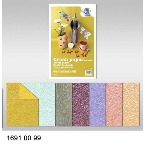 Karten und Scrapbooking Papier, Papier blöcke Effect of paper, crush paper, 21 x 33 cm, 120 gr / sqm,
