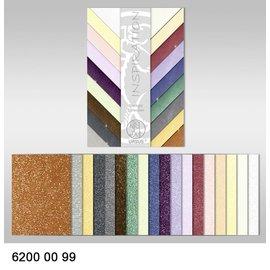 Karten und Scrapbooking Papier, Papier blöcke Starlight Collection, 18 Blatt, 200 gr/qm, beidseitig bedruckt mit Metalliceffekt