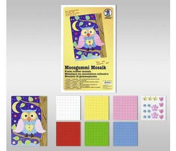 "Kinder Bastelsets / Kids Craft Kits Foam Mosaic ""Owl"""