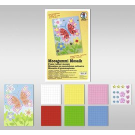 "Kinder Bastelsets / Kids Craft Kits Foam Mosaic ""Butterfly"""