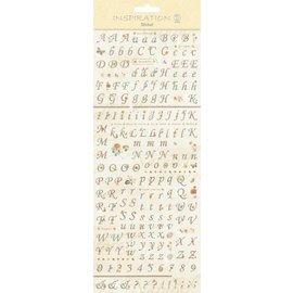 """Embellishments / Verzierungen Pegatinas: para fabricación de la tarjeta, decoración, etc, """"Letras y números"""""""