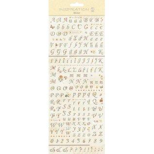 """Embellishments / Verzierungen Stickers: voor kaarten maken, decoratie, enz., """"Letters en cijfers op"""""""