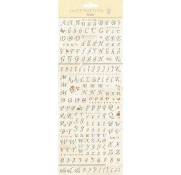 """Embellishments / Verzierungen Klistermærker: for kort beslutningsproces, dekoration, etc., """"bogstaver og tal"""""""