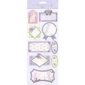 STICKER / AUTOCOLLANT Klistermærker: til kortdesign, dekoration osv., Forskellige motiver