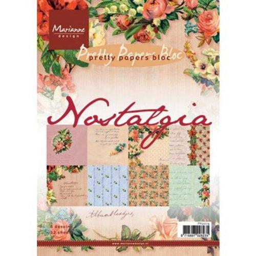 Karten und Scrapbooking Papier, Papier blöcke Nostalgia A5 paper pad.