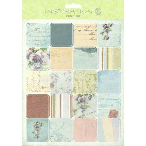 Embellishments / Verzierungen Paper Tags, Scene 08