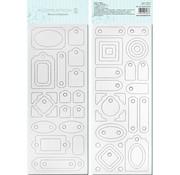 Carte à puce Blanco, pré-découpé, prêt à être personnalisé, Motif 4