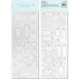 Blanco bordo chip, pre-tagliati, pronti per essere personalizzati, Motif 4