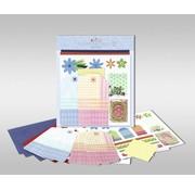 "KARTEN und Zubehör / Cards Jeux de cartes à personnaliser, ""fleurs"", taille 7,8 x 13,5 cm"