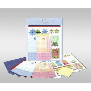 """KARTEN und Zubehör / Cards Sets of cards to be personalized, """"flowers"""", size 7.8 x 13.5 cm"""