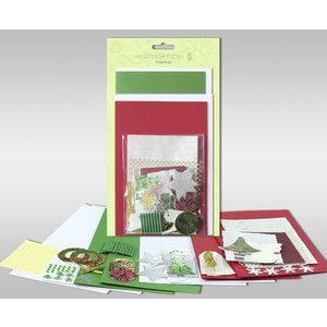 """BASTELSETS / CRAFT KITS Sets of cards to be personalized, """"winter"""", for 4 cards, size 11.5 x 21 cm and 11.5 x 17 cm"""