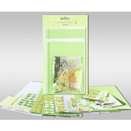 """KARTEN und Zubehör / Cards Sett med kort for å være personlig, """"Spring"""", for fire kort, størrelse 11,5 x 21 cm og 11,5 x 17 cm"""