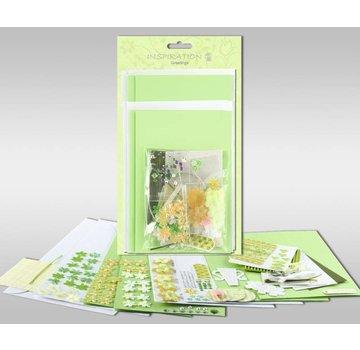 "KARTEN und Zubehör / Cards Set di carte da personalizzare, ""Primavera"", per 4 carte, dimensioni 11,5 x 21 cm e 11,5 x 17 cm"