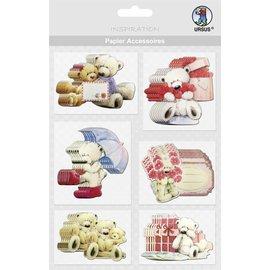 Embellishments / Verzierungen Chipboards, bears: 36 pieces!