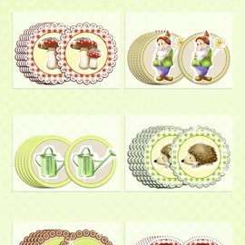 Embellishments / Verzierungen 30 graziosi truciolato