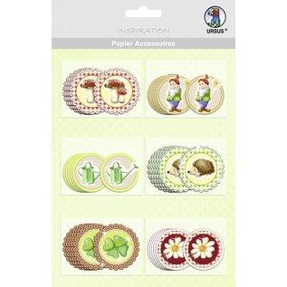 Embellishments / Verzierungen 30 mooie spaanplaten