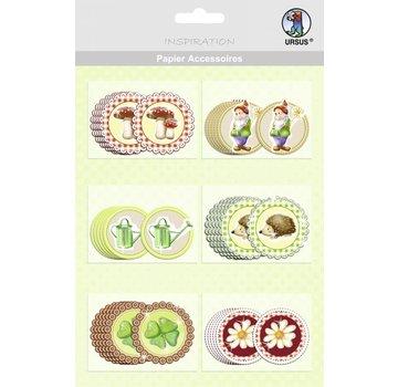 Embellishments / Verzierungen 30 hübsche Chipboards