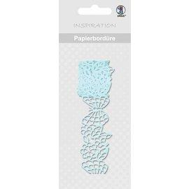 """Embellishments / Verzierungen Papierbordüre, """"lichtblauw"""", 16 mm, zelfklevend, 200 cm"""