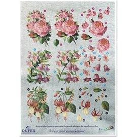 "3D Dufex die cut sheet metal engraving, Gallery 'Roses / Fuchsia """