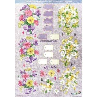 """3D die cut sheet metal engraving, Dufex decoupage, """"spring flowers"""""""