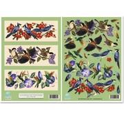 """BILDER / PICTURES: Studio Light, Staf Wesenbeek, Willem Haenraets 3D die cut sheet metal engraving, Dufex Gallery, """"Birds"""""""