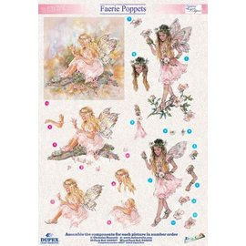 "3D die cut sheet metal engraving, Dufex ""Faerie Poppets 210"" designs Christine Haworth"