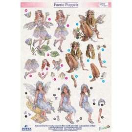 "3D die cut sheet metal engraving, Dufex ""Faerie Poppets 410"" designs Christine Haworth"