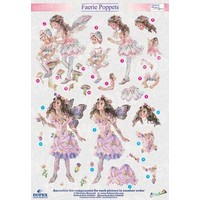 "3D die cut sheet metal engraving, Dufex ""Faerie Poppets 610"" designs Christine Haworth"