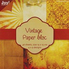 Karten und Scrapbooking Papier, Papier blöcke Vintage carta blocco 1, 36 p., 4x9 15x15cm disegni
