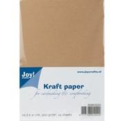 Karten und Scrapbooking Papier, Papier blöcke Carta Kraft, A4, 300gr, 25 fogli