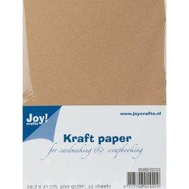 Karten und Scrapbooking Papier, Papier blöcke Kraft papir, A4, 300gr, 25 ark