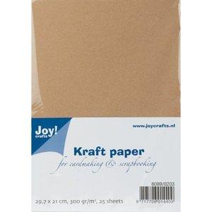 Karten und Scrapbooking Papier, Papier blöcke Kraft paper, A4, 300gr, 25 sheets