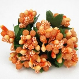 BLUMEN (MINI) UND ACCESOIRES Mini Blumchen, arancio delicato, look vintage