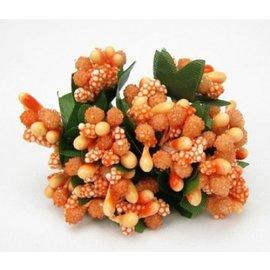 BLUMEN (MINI) UND ACCESOIRES Mini Blumchen, delicado naranja, mirada de la vendimia