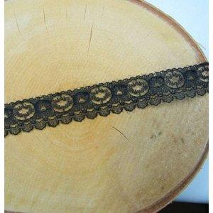 DEKOBAND / RIBBONS / RUBANS ... Lace, black, yard goods