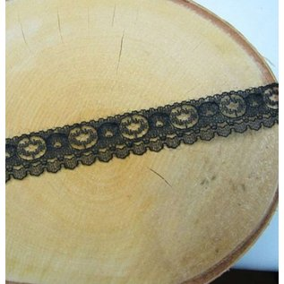 DEKOBAND / RIBBONS / RUBANS ... Lace, black, yard goods
