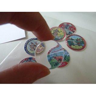 Embellishments / Verzierungen Epoxy-klistremerke, ø 3,0 cm