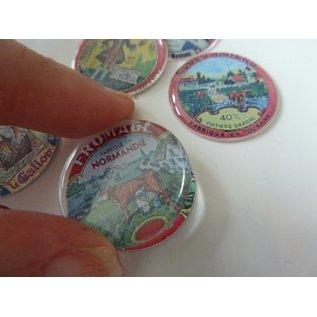 Embellishments / Verzierungen Epoxy sticker, ø 3,0 cm