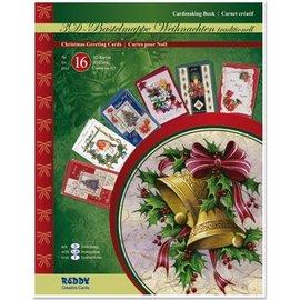 REDDY Bastelmappe für 16 weihnachtliche Grußkarten